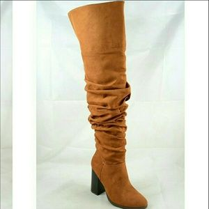 Shoes - 🎉 Sale 🎉 Slouchy - Look Tall Boots - Chestnut